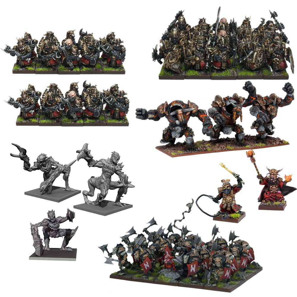 Kings Of War: Abyssal Dwarf Mega Army (69)