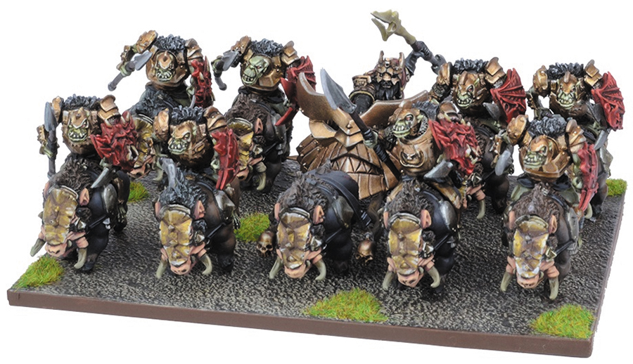 Kings Of War: Abyssal Dwarf Slave Orc Gore Rider Regiment Set (10) Box Front