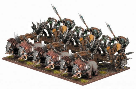 Kings Of War: Orc Chariot Regiment Set (3) Box Front