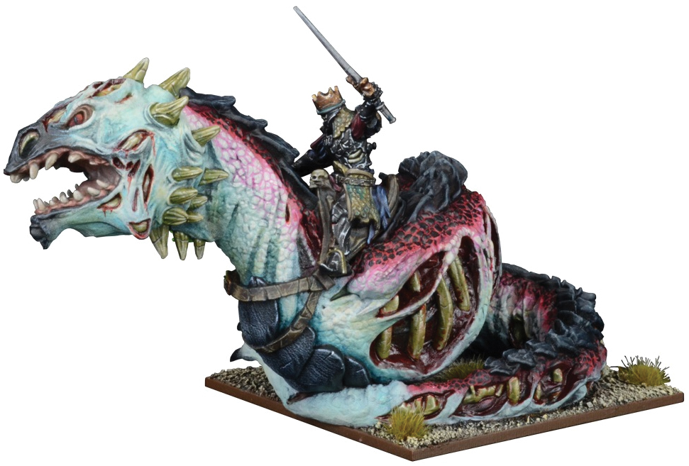 Kings Of War: Undead Revenant King On Undead Wyrm Box Front