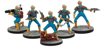 Mars Attacks: Martian Marines (5) Box Front