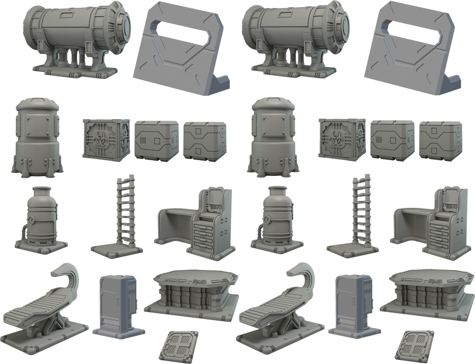 Terraincrate: Space Station Scenery Box Front
