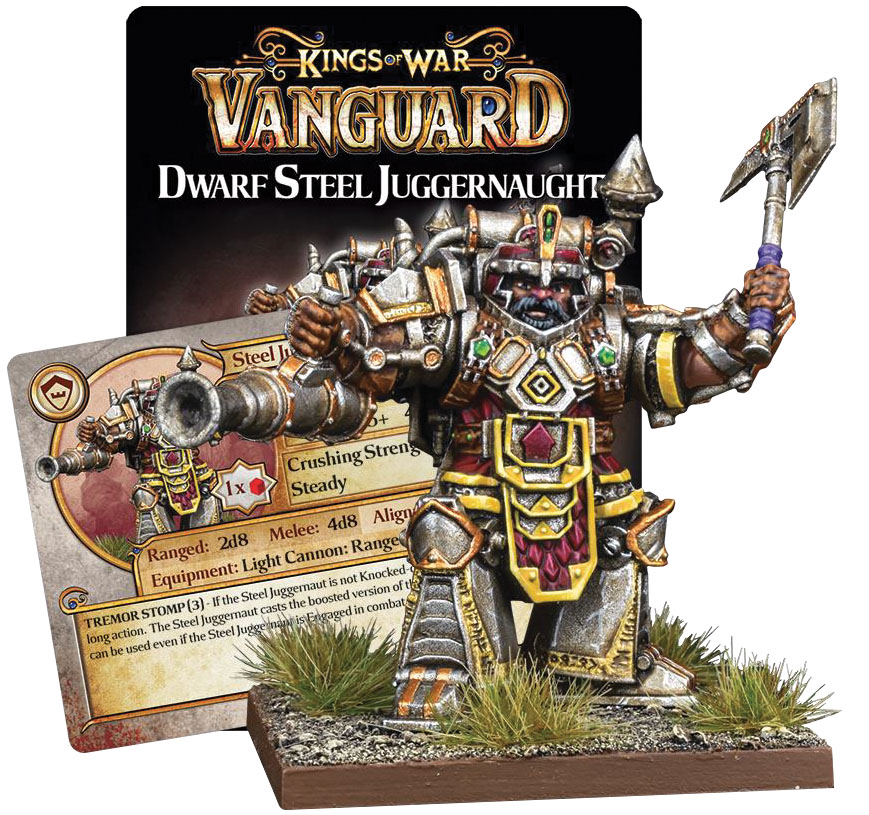 Kings Of War Vanguard: Dwaf Support Pack - Steel Juggernaut Game Box