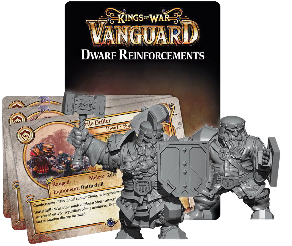 Kings Of War Vanguard: Dwarf Reinforcement Pack Game Box
