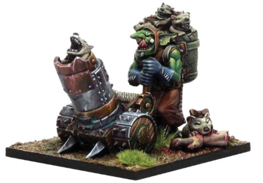 Kings Of War Vanguard: Goblin Support Pack: Mawpup Launcher Game Box