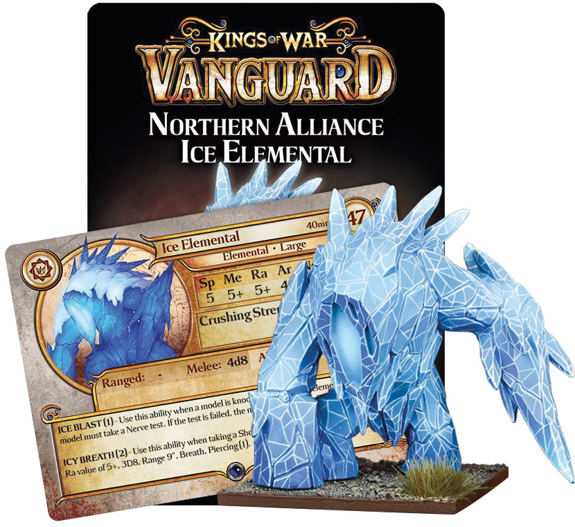 Kings Of War Vanguard: Northern Alliance Ice Elemental Game Box