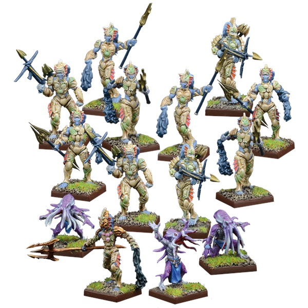 Kings Of War Vanguard: Trident Realm Warband Set Game Box