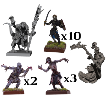 Kings Of War Vanguard: Undead Warband Set Game Box