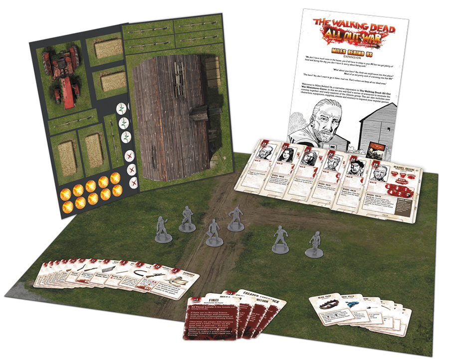The Walking Dead: All Out War Miles Behind Us Expansion Box Front