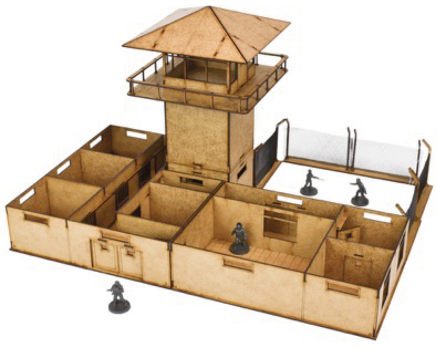 The Walking Dead: All Out War The Prison Mdf Kit Box Front