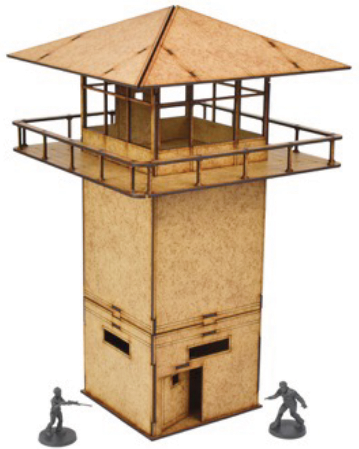 The Walking Dead: All Out War Prison Tower Mdf Kit Box Front