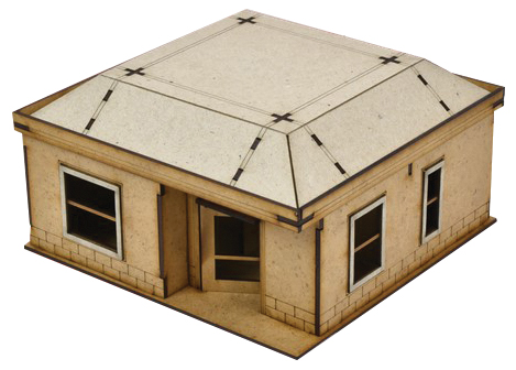 The Walking Dead: All Out War Woodbury House 2 Mdf Kit Box Front