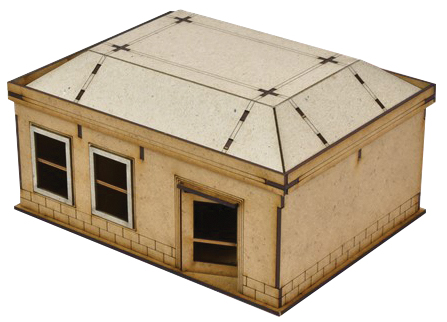 The Walking Dead: All Out War Woodbury House 3 Mdf Kit Box Front