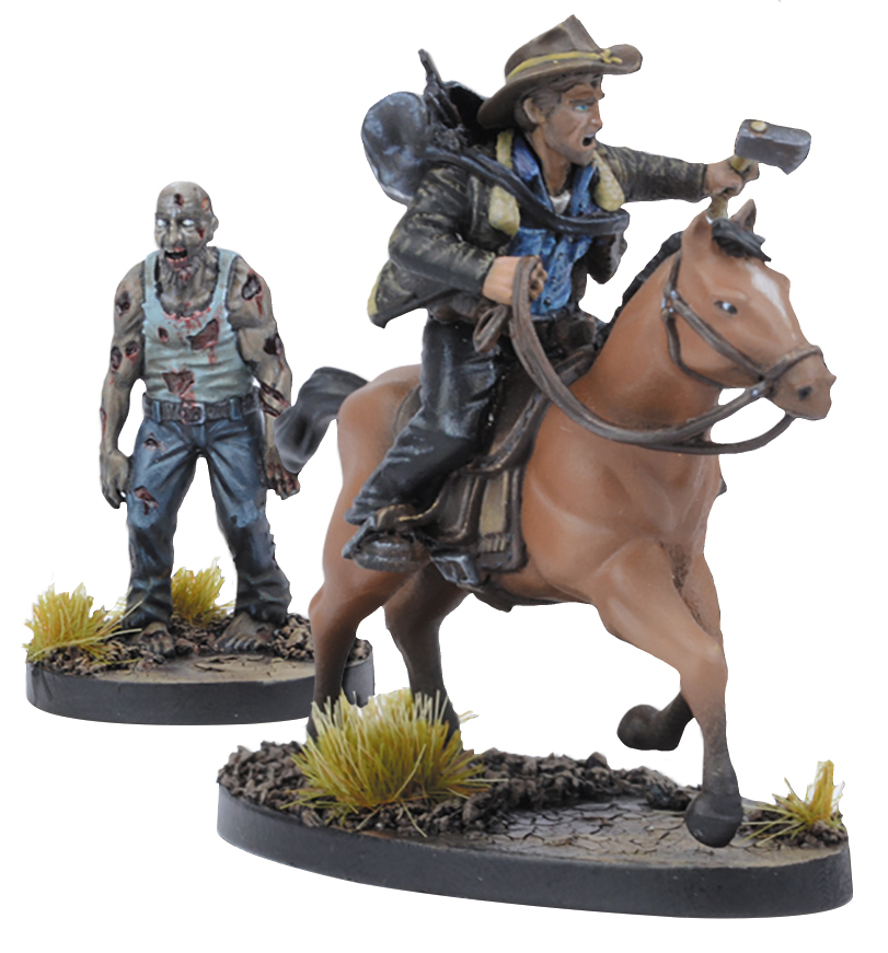 The Walking Dead: All Out War, Rick On Horse Booster Expansion Box Front