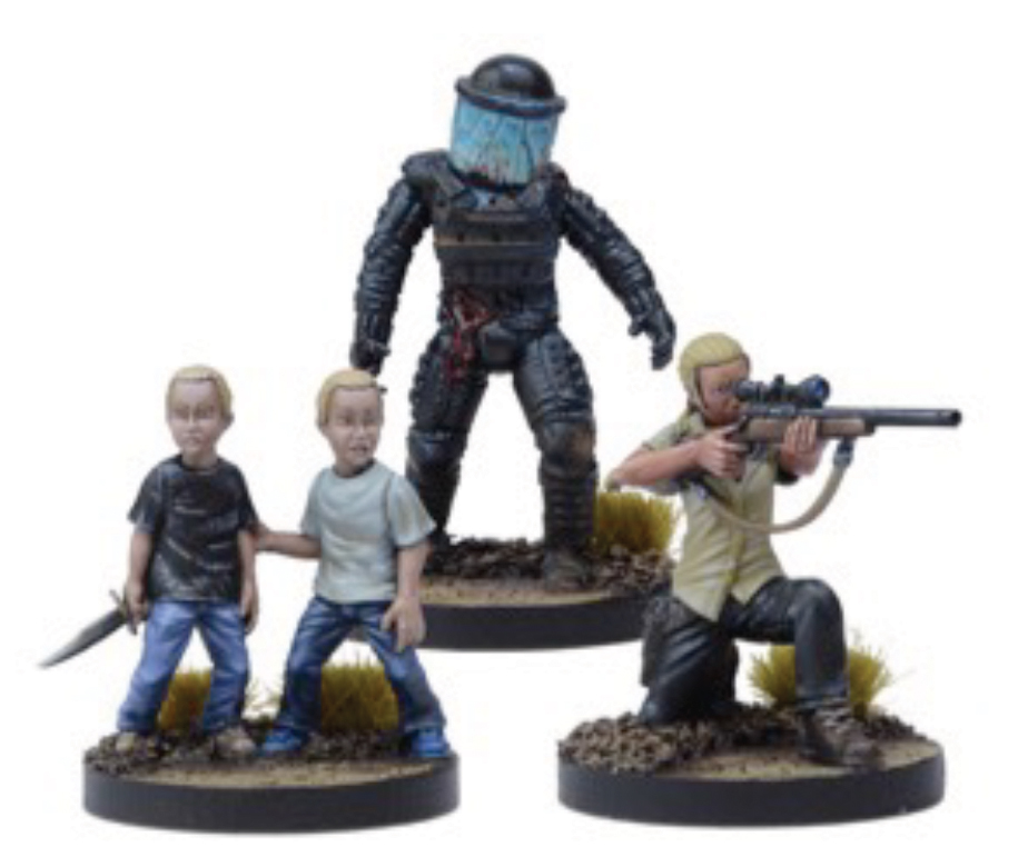 The Walking Dead: All Out War Andrea, Prison Sniper Booster Box Front