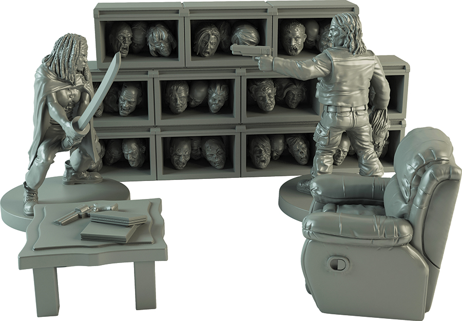 The Walking Dead: All Out War The Governor`s Trophy Room Collector`s Set Box Front