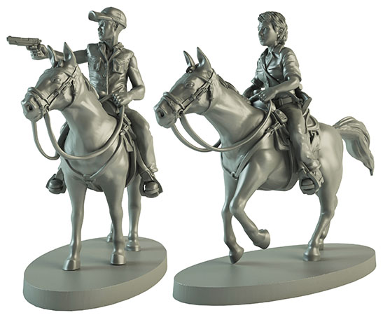 The Walking Dead All Out War Maggie And Glenn On Horseback Box Front