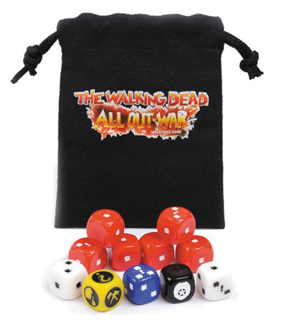 The Walking Dead: All Out War Dice Booster Bag Box Front
