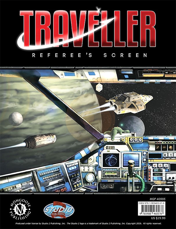 Traveller Rpg: Referees Screen Box Front