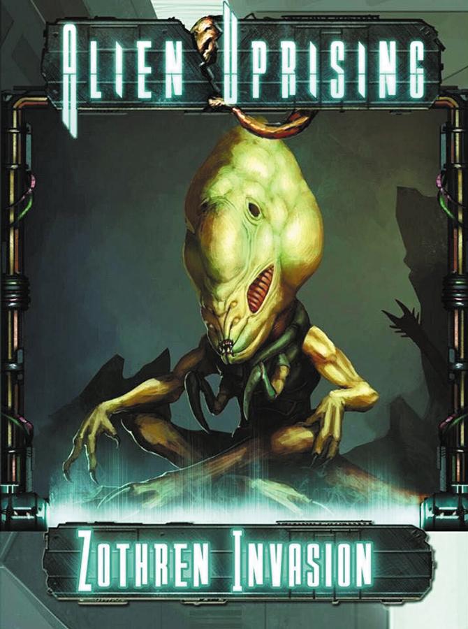 Alien Uprising: Zothren Invasion Stand Alone Card Game Box Front