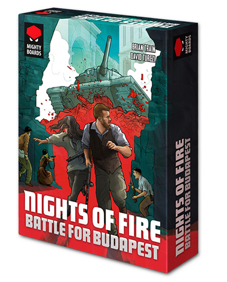 Nights Of Fire: Battle For Budapest Game Box