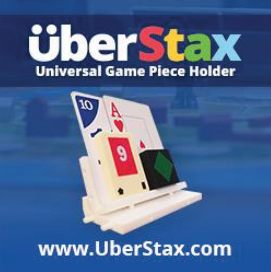 Uberstax: Universal Game Piece Holder Display (10) Box Front