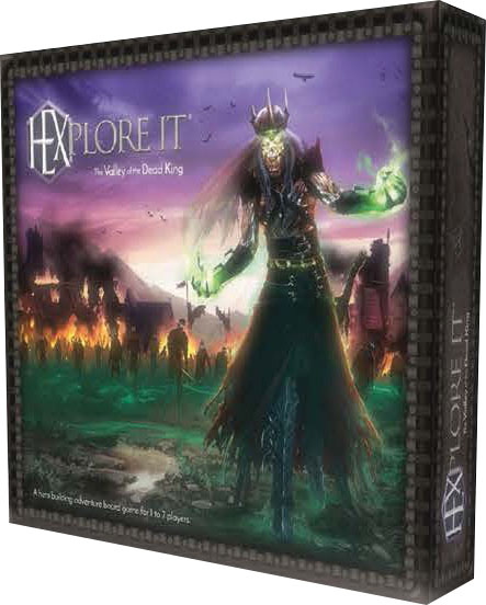 Hexplore It: The Valley Of The Dead King Game Box