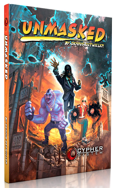 Cypher System Rpg: Unmasked Hardcover Box Front