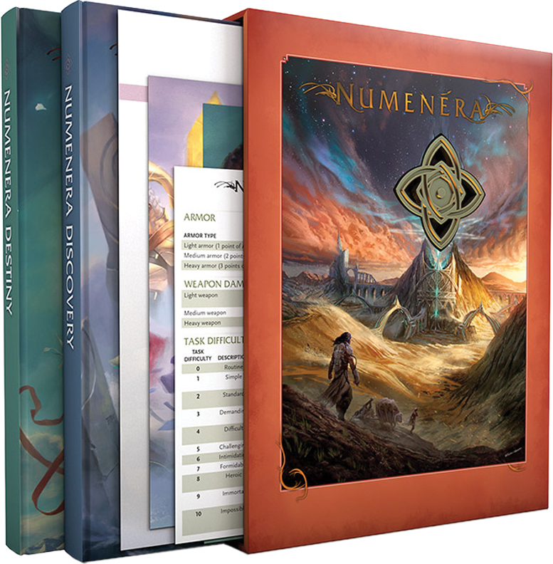 Numenera Rpg: Discovery And Destiny Slipcover Box Front