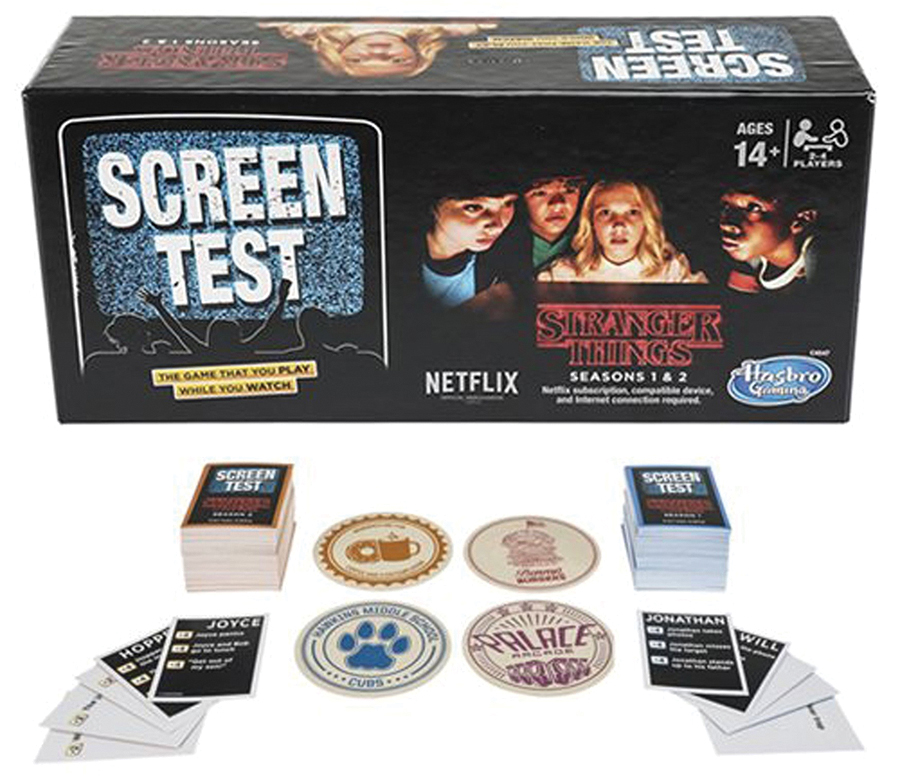 Stranger Things Screen Test Game Box Front