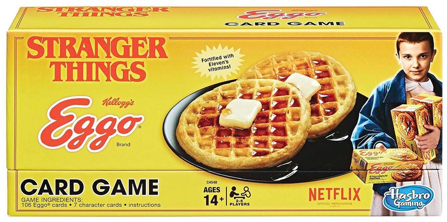 Stranger Things Eggo Card Game Box Front