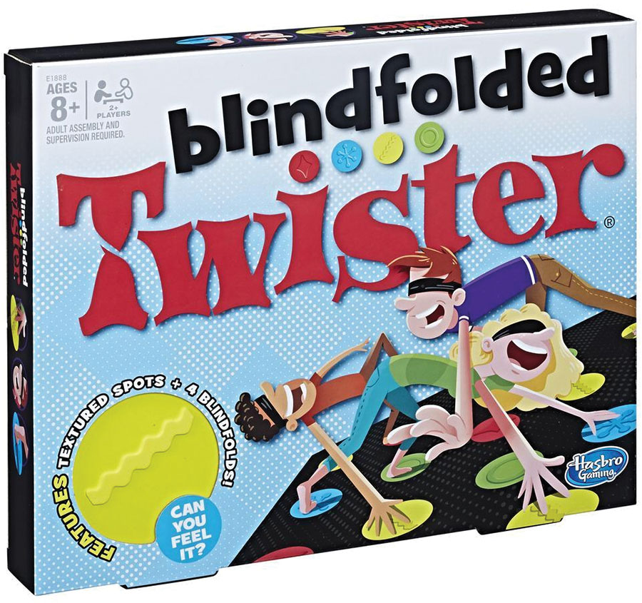 Blindfolded Twister Game Box