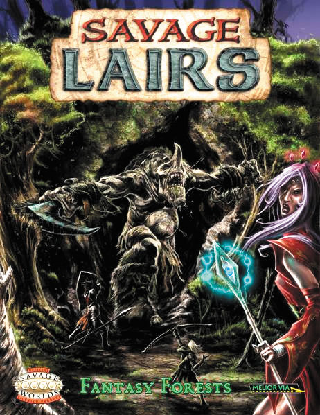 Savage Worlds Rpg: Savage Lairs Fantasy Forests Box Front