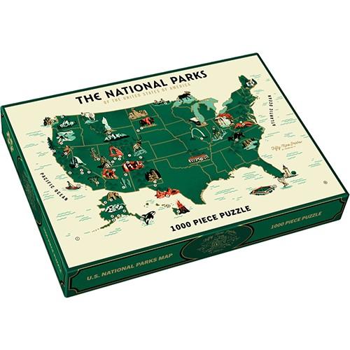U.s. National Parks Map 1000 Piece Puzzle