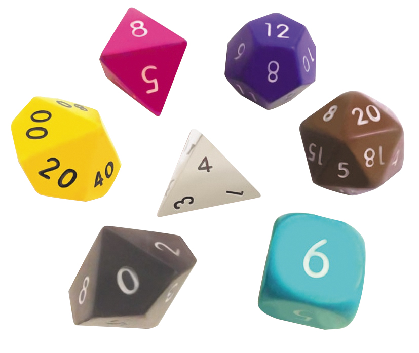 Squishy Dice Set - Chocolate Set Of 7 Box Front