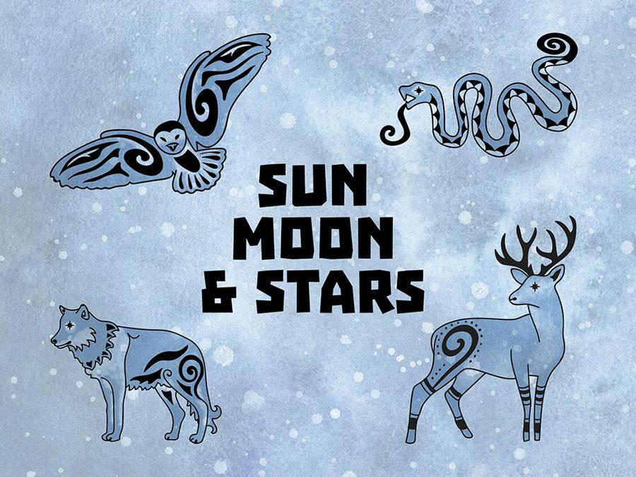 Sun Moon & Stars Box Front