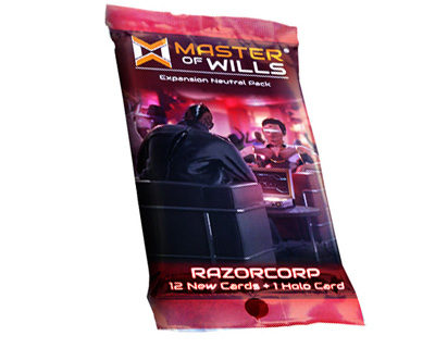 Master Of Wills: Razorcorp Fringe War Pack Game Box