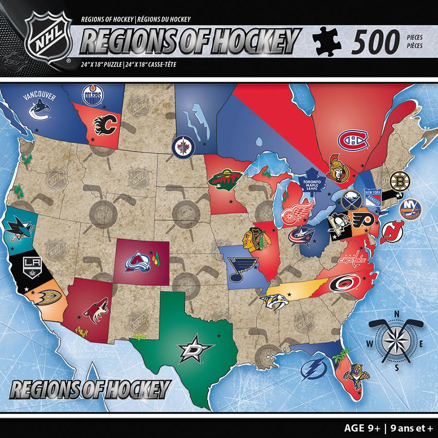 Nhl Usa Map 500pc Box Front
