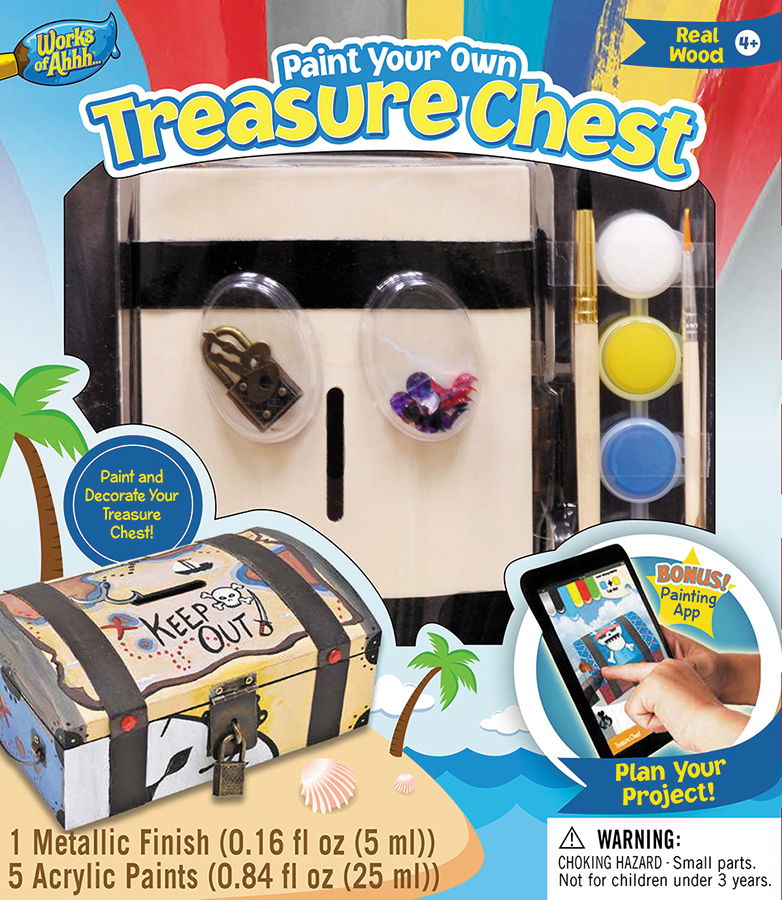 Classic Wood Paint Kit: Treasure Chest Box Front