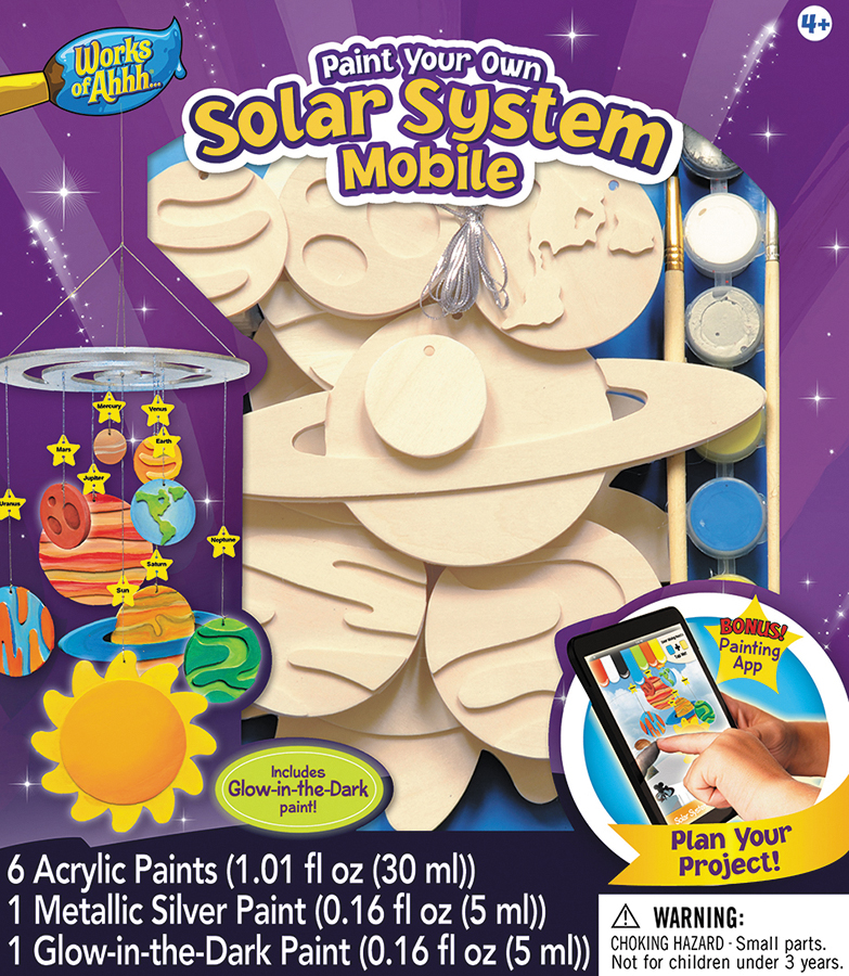 Classic Wood Paint Kit: Solar System Mobile Box Front