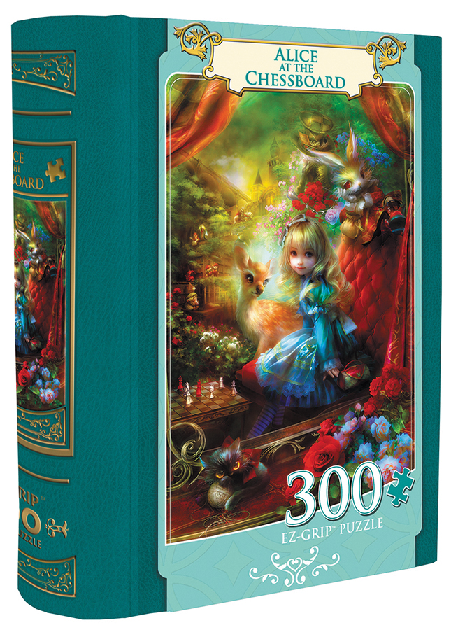 Book Box: Alice At The Chessboard 300pc Box Front