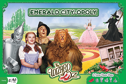 The Wizard Of Oz Emerald City-opoly Game Box Front