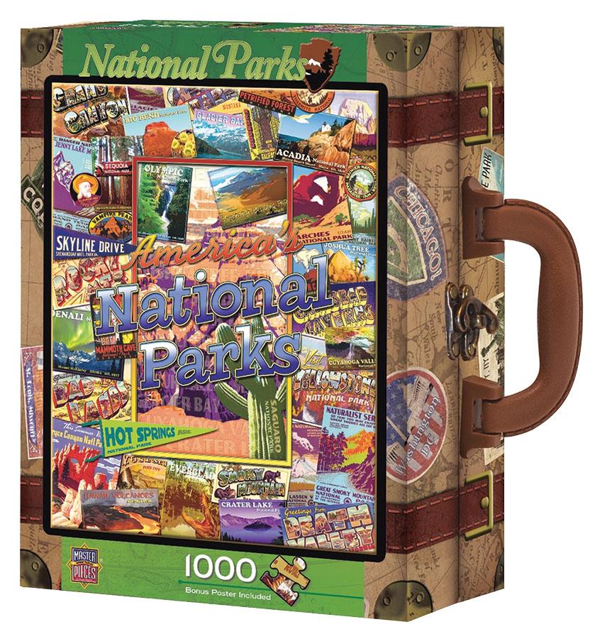 Suitcase Box Puzzle: National Parks 1000 Piece Puzzle Game Box