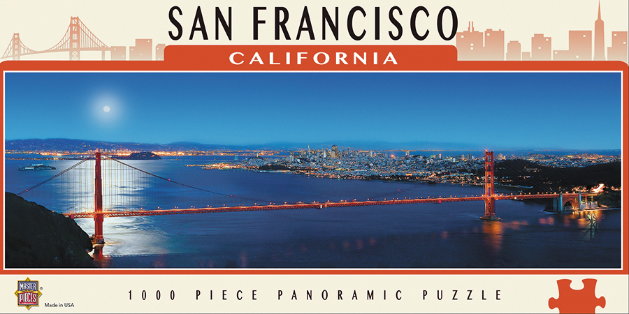 Panoramic View: San Francisco 1000pc Box Front
