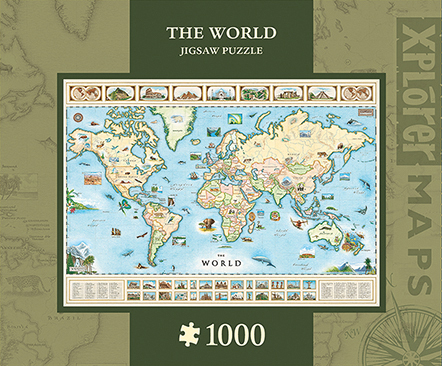 Xplorer Maps: The World 1000pc Box Front