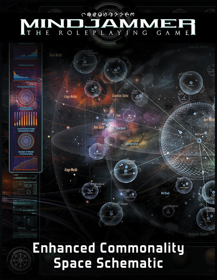 Fate Core Rpg: Mindjammer - Enhanced Space Schematic Poster Map Box Front
