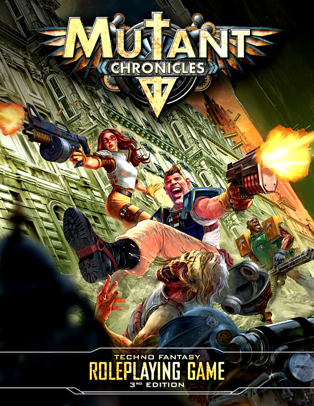 Mutant Chronicles Rpg: Core Rules Hardcover Box Front