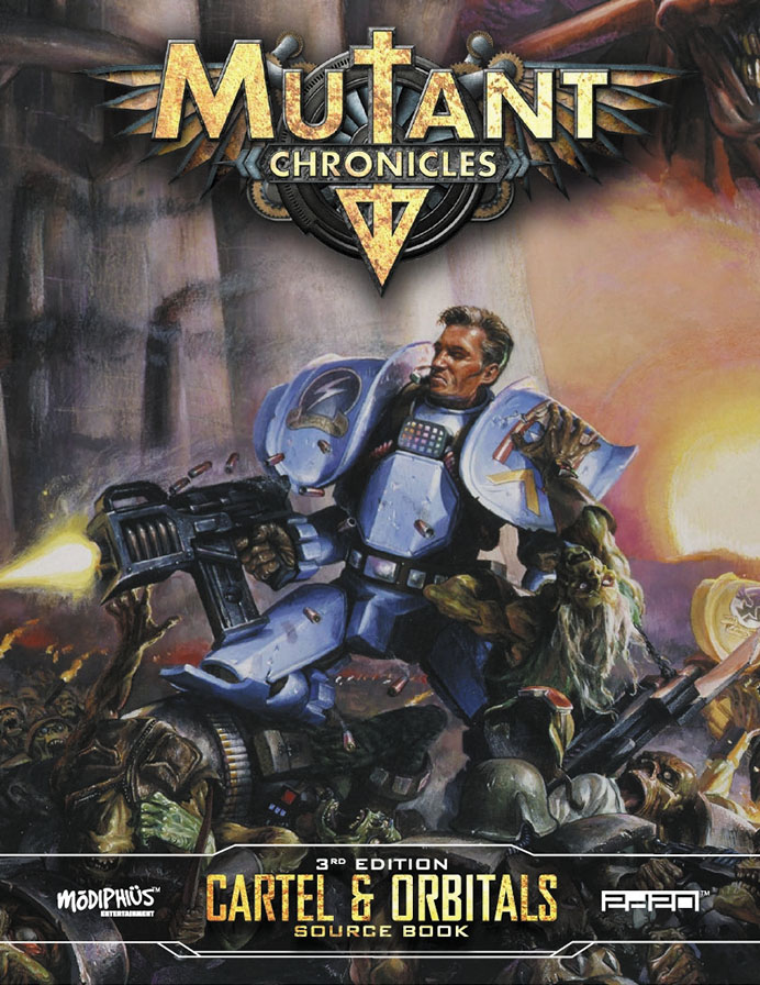Mutant Chronicles Rpg: Cartel & Orbitals Guidebook Box Front