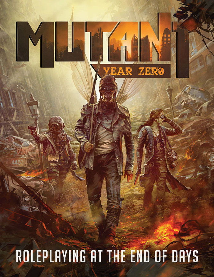Mutant: Year Zero Rpg - Core Rules Hardcover Box Front