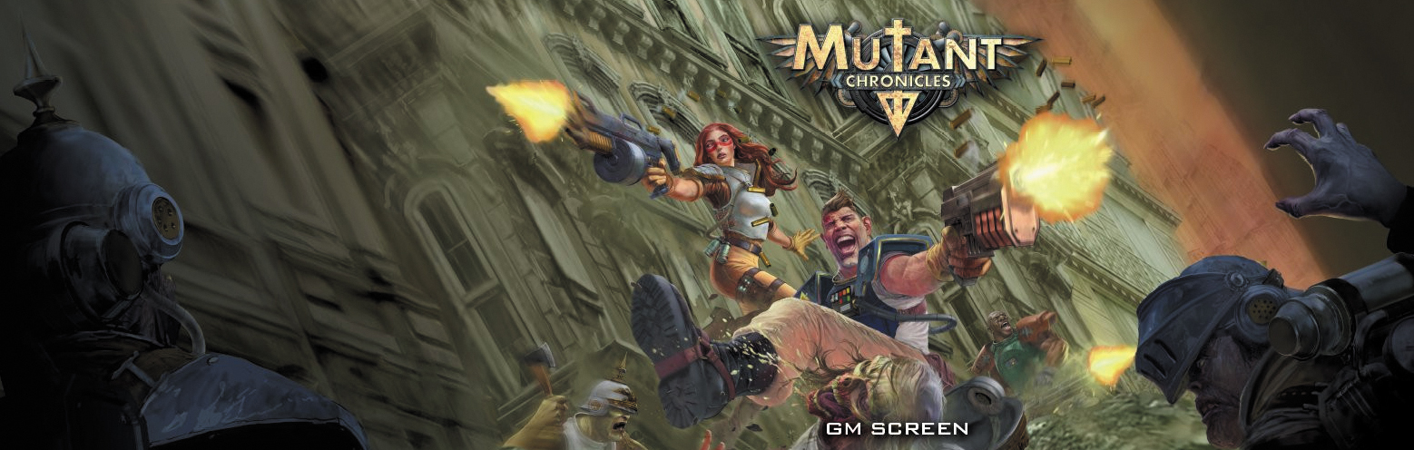 Mutant Chronicles: Gm Screen Box Front